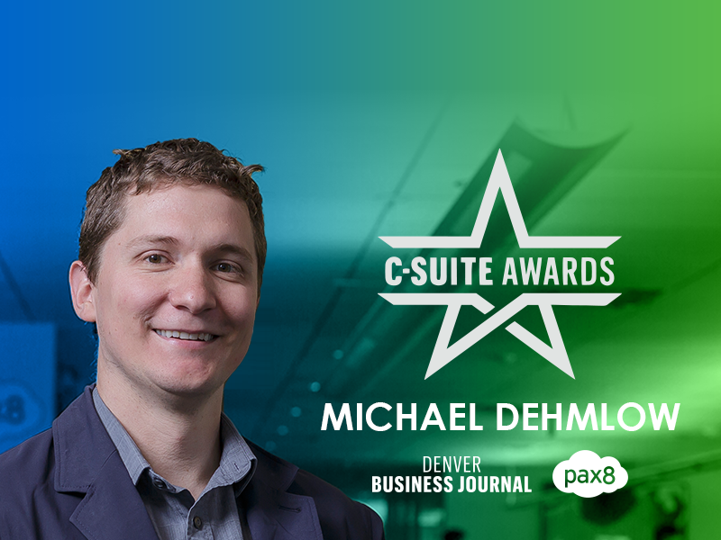 Pax8's Michael Dehmlow Honored with C-Suite Award by the Denver Business Journal Image