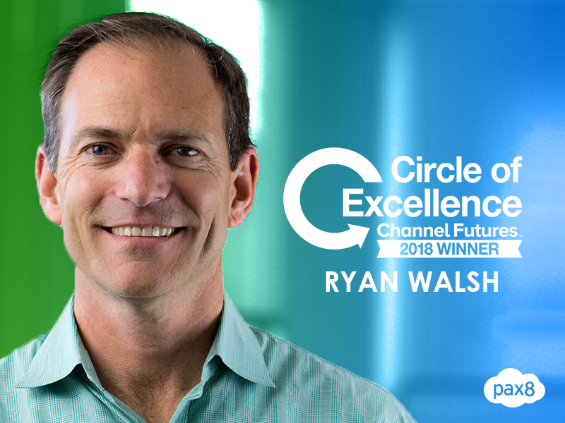 Pax8's Ryan Walsh Honored with Circle of Excellence Award by Channel Futures Image